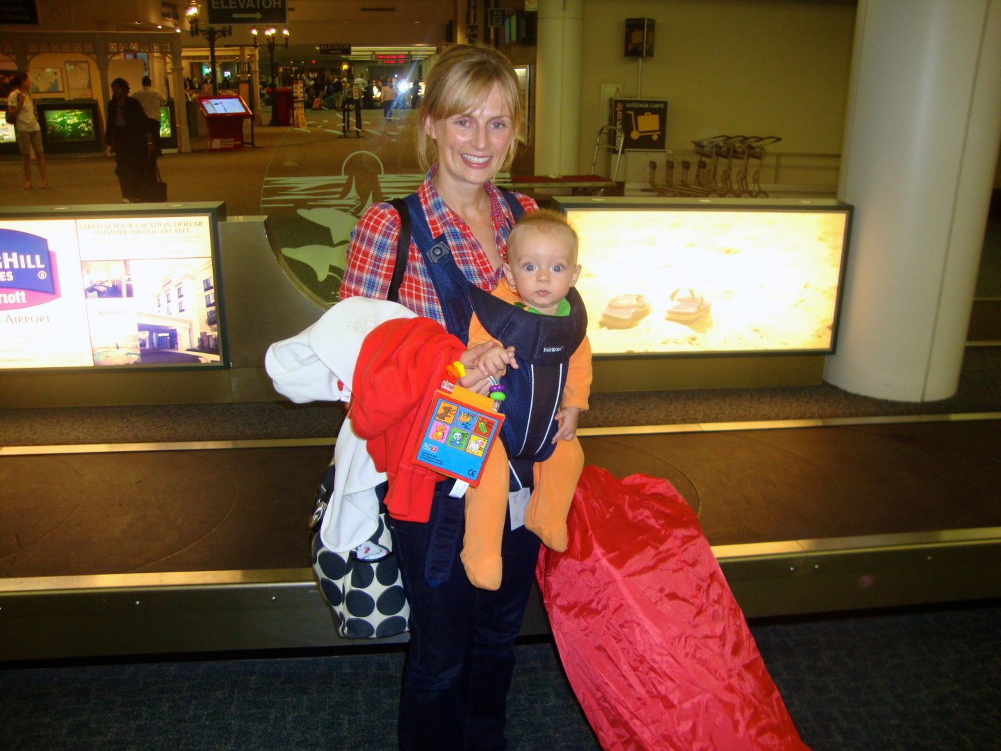 Flying with a baby packing guide