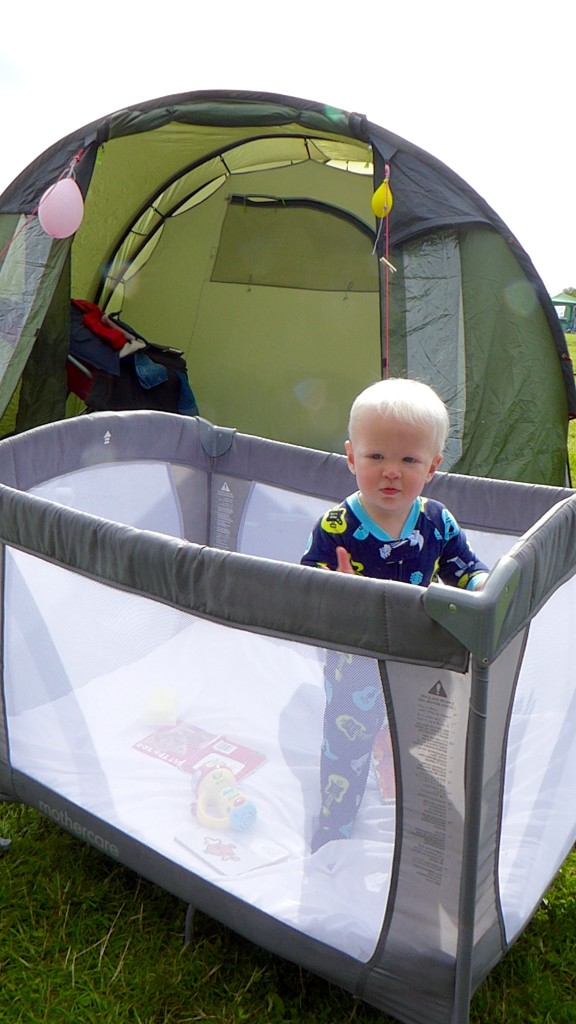 Essential kit for camping with a baby or young child