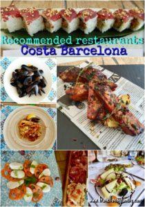 Recommended restaurants Costa Barcelona