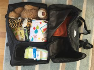 Selecting the right bag when travelling with kids