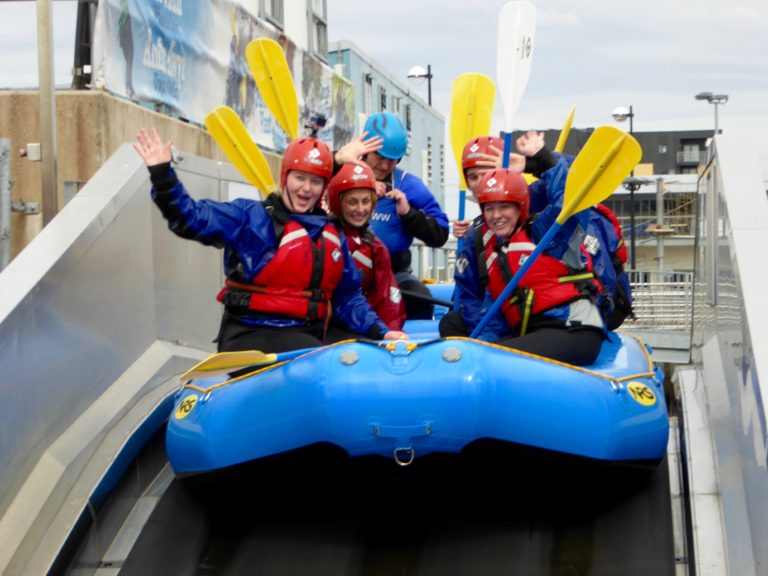 A splashtastic time white water rafting in Cardiff