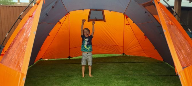 Preparing to camp with kids