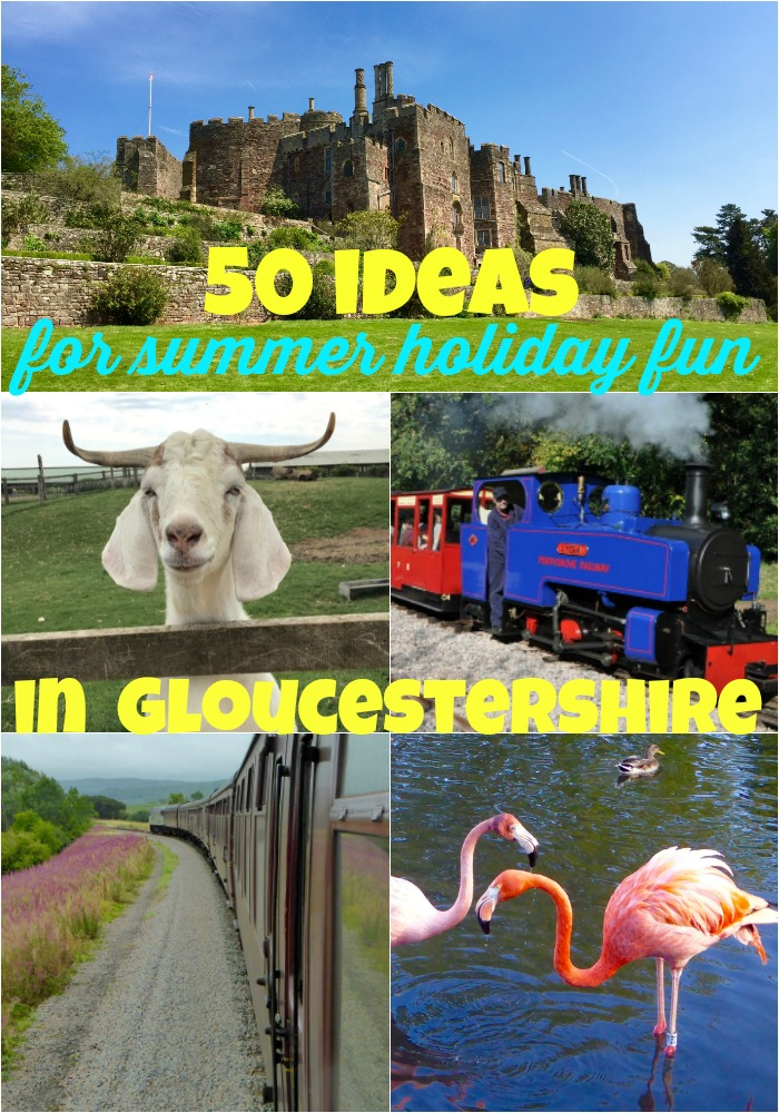 50 ideas for summer holiday fun in Gloucestershire