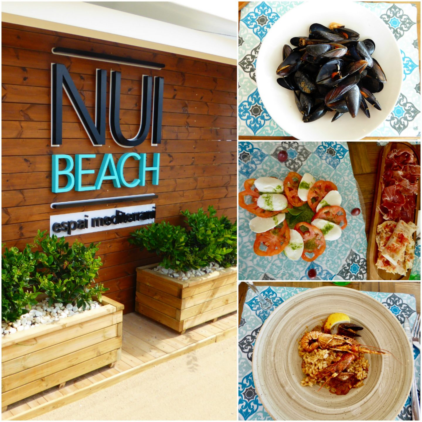 Destination guide Costa Barcelona with kids Nui Beach restaurant