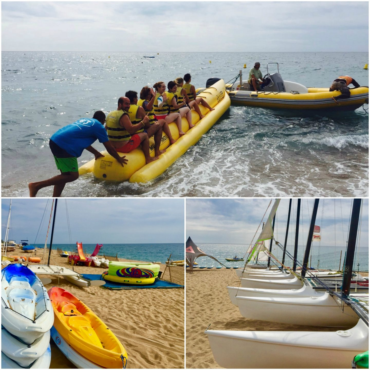 Destination guide Costa Barcelona with kids water sports