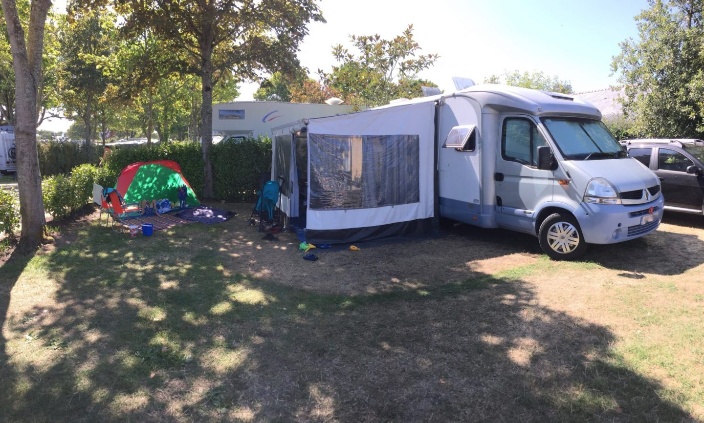 Pitch for motor home - Review Camping Du Letty, Benodet