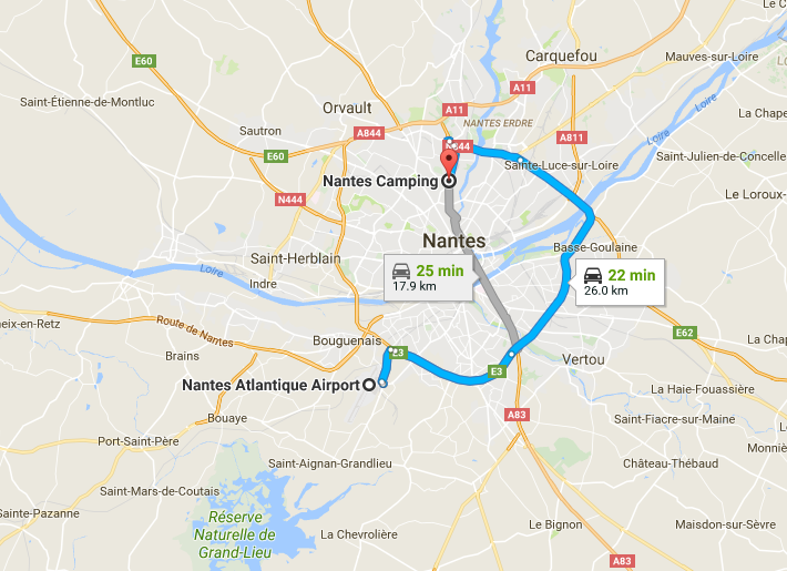 Map - Review Nantes Camping