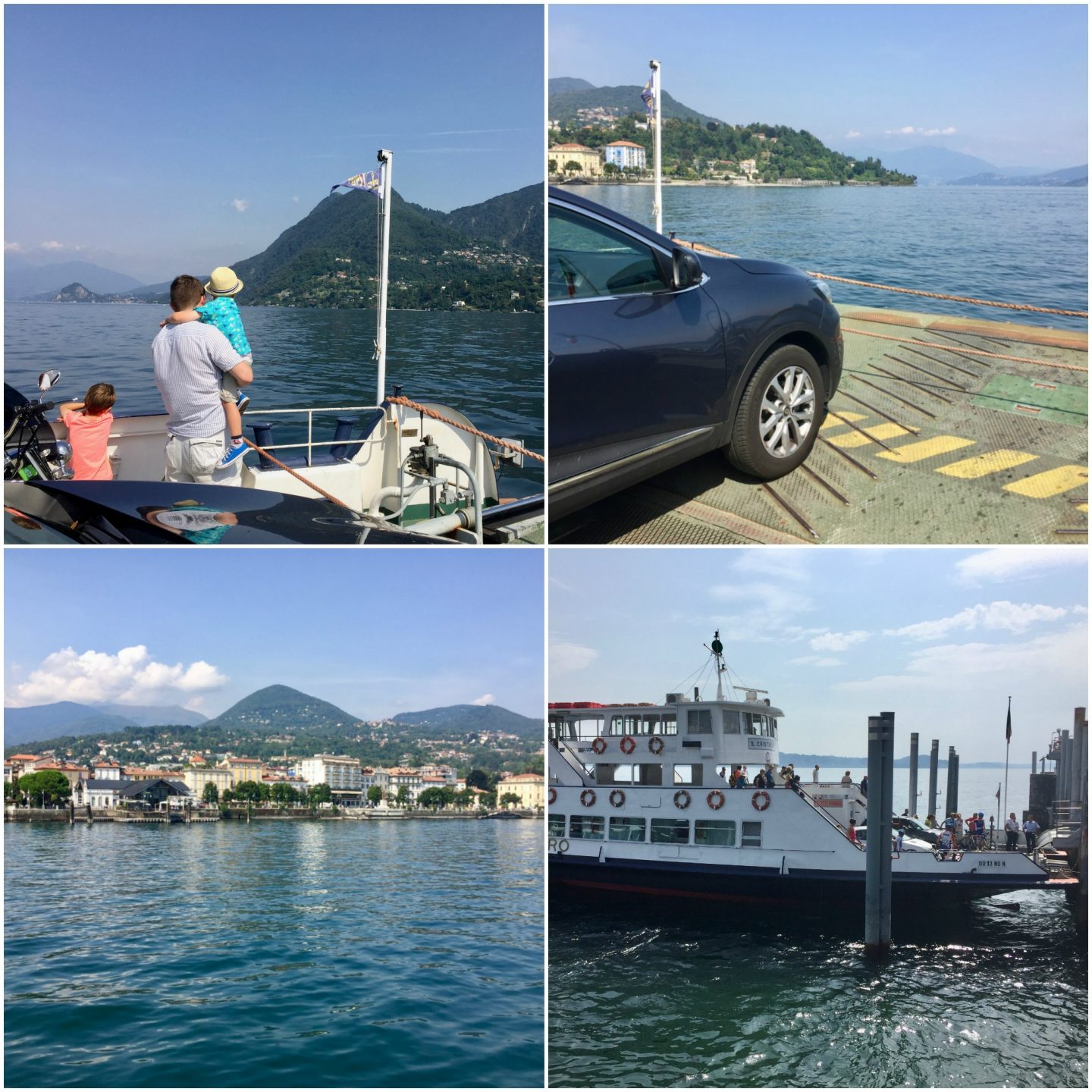 things to do with kids near Lake Maggiore, Italian Lakes - car ferry ride