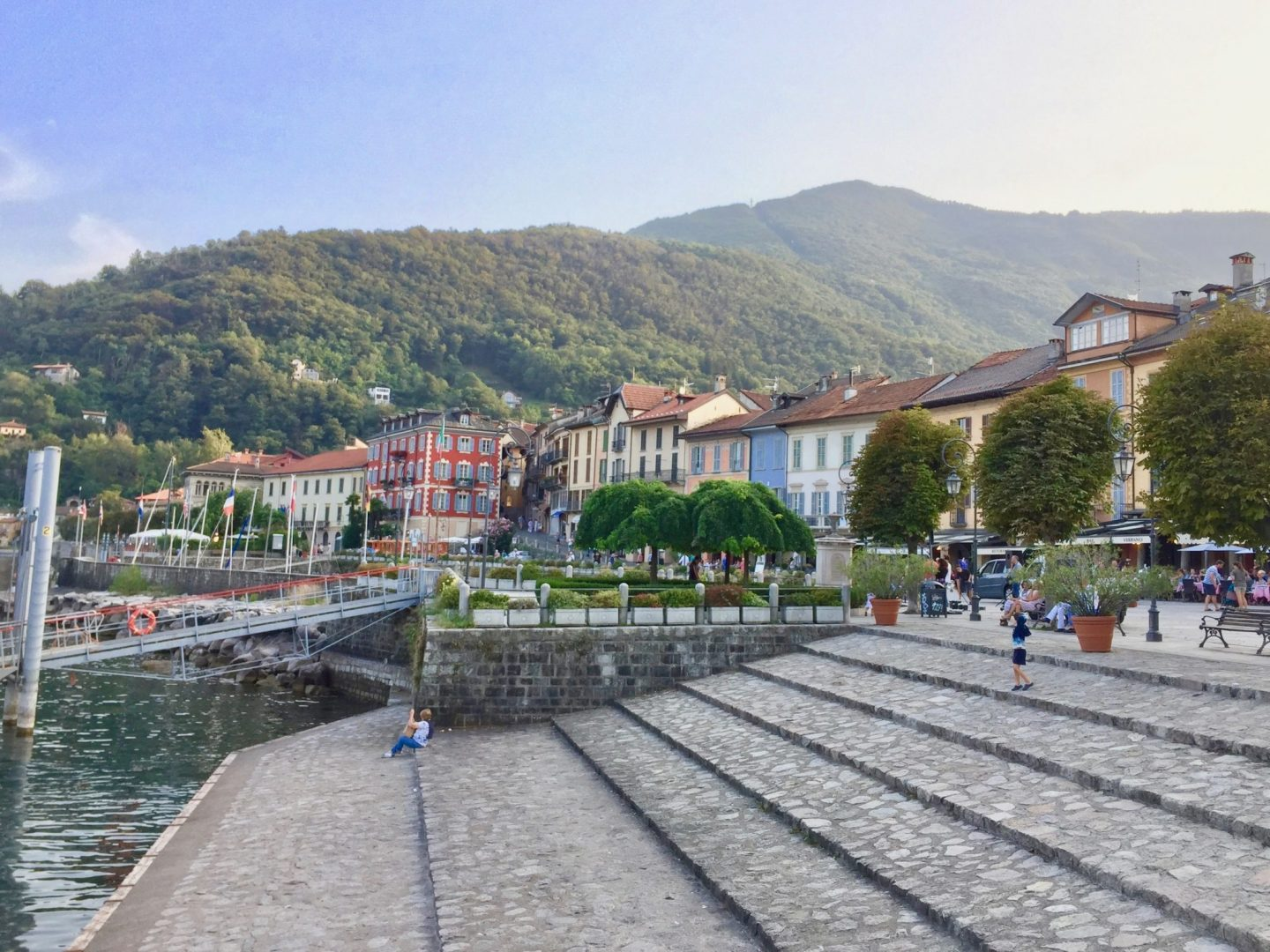Cannobio watersports, beach and prom - things to do in Lake Maggiore with kids