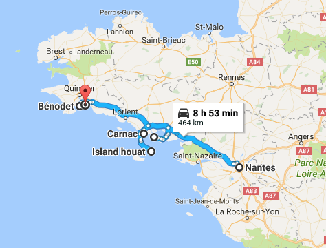 Brittany road trip itinerary