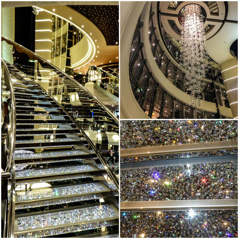 Swarovski staircase onboard MSC Preziosa