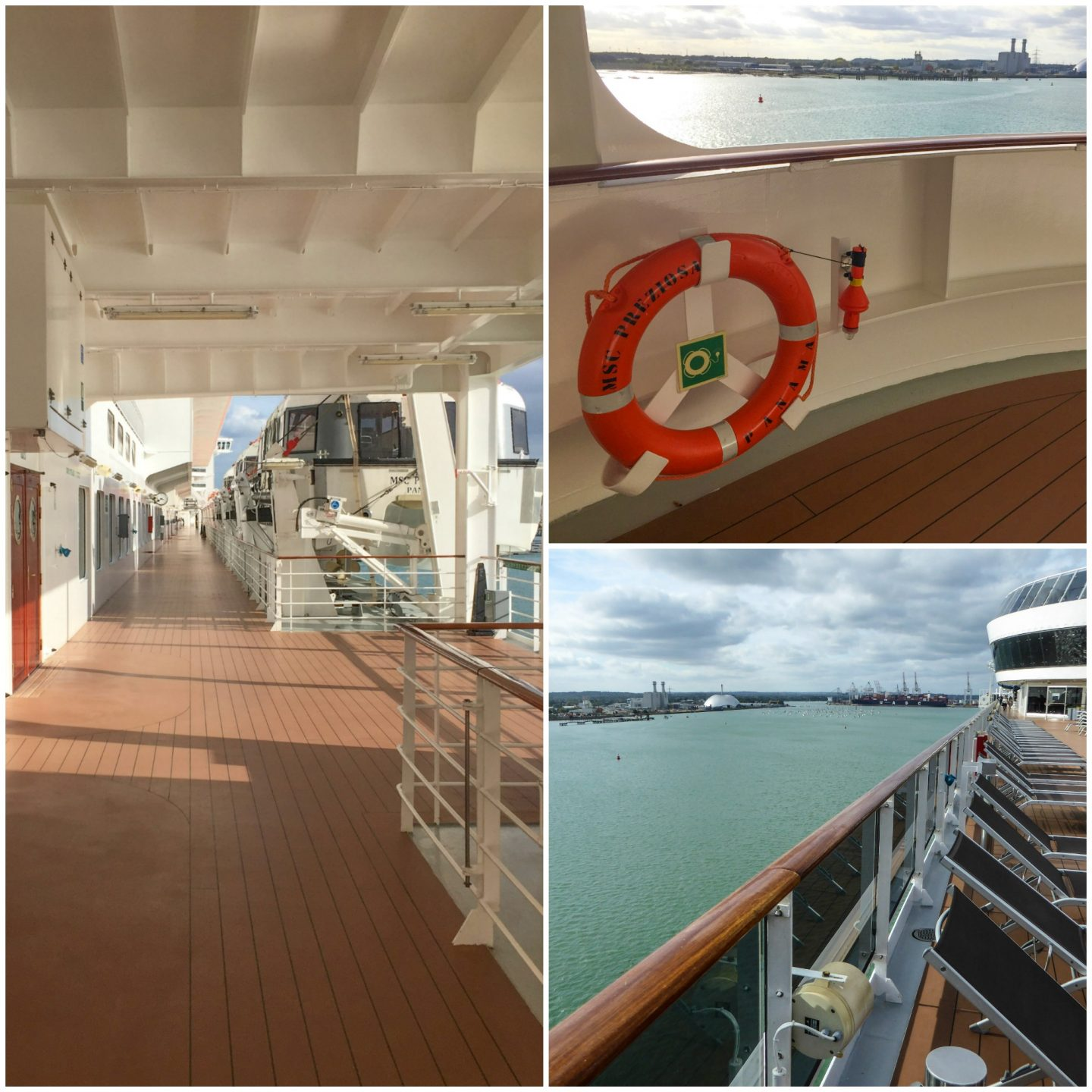 Walking around the decks - MSC Preziosa