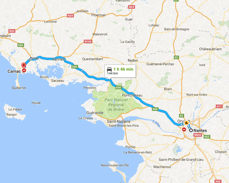 Brittany road trip itinerary - Nantes to Carnac