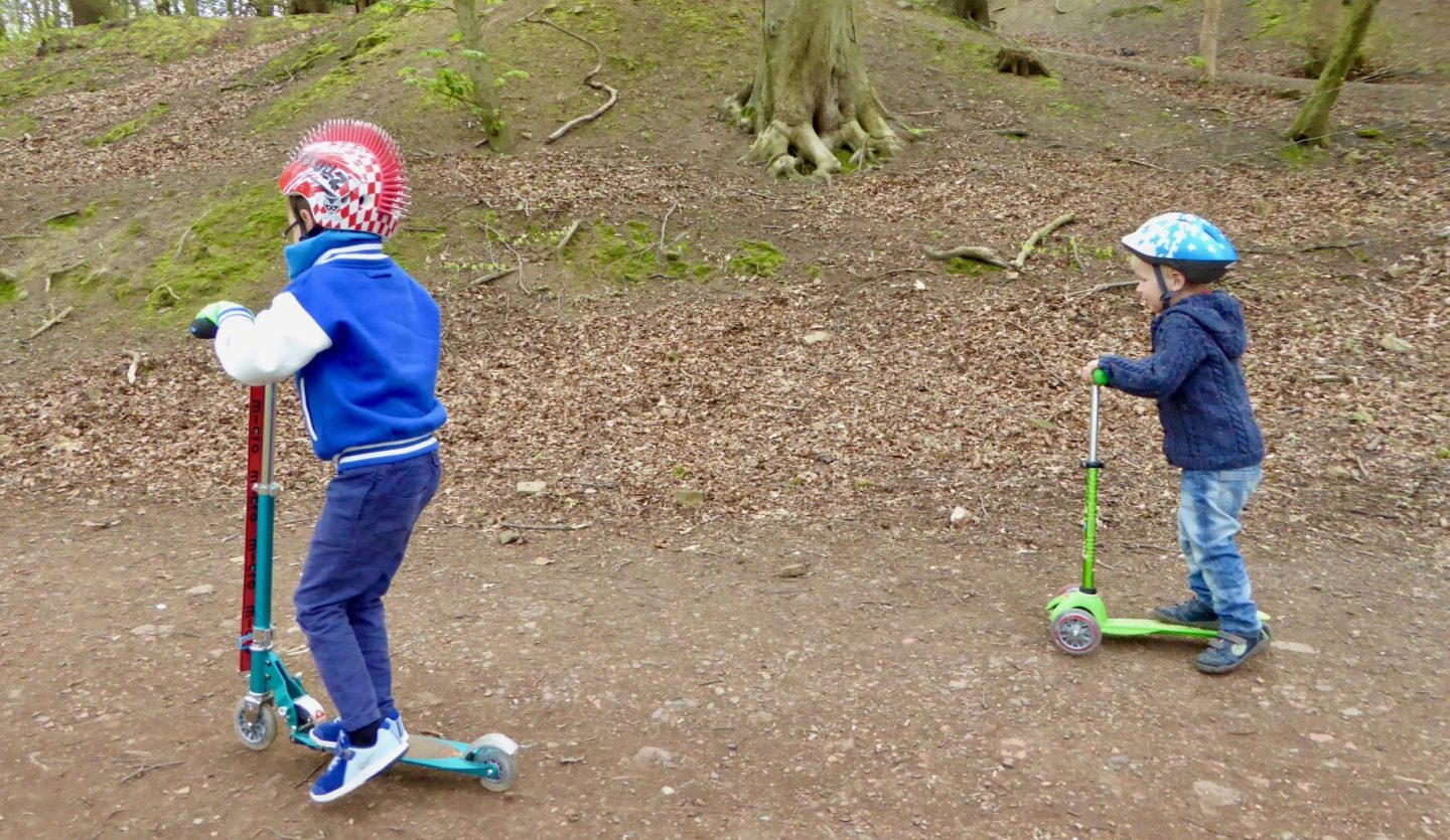 Scootering - Autumn outdoor family adventures